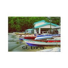 St. Lucia, waterfront  Rectangle Magnet