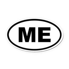 Maine ME Oval Car Magnet