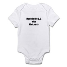 Made in the U.S. with Kiwi Parts Infant Bodysuit