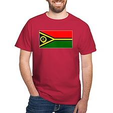 Vanuatu Blank Flag Red T-Shirt