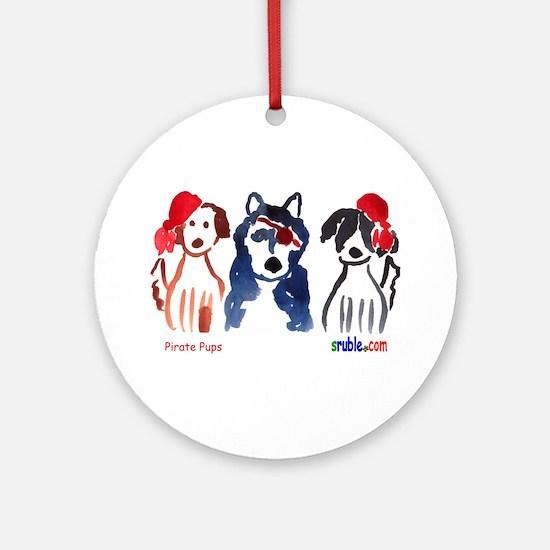 Pirate Pups Ornament (Round)