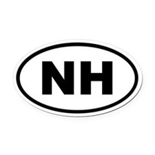 New Hampshire NH Oval Car Magnet