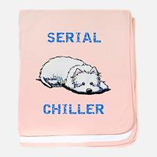 Westie Serial Chiller baby blanket