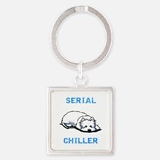 Westie Serial Chiller Square Keychain