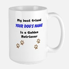 Custom Golden Retriever Best Friend Mug