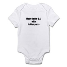 Made in the U.S. with Italian Parts Infant Bodysui