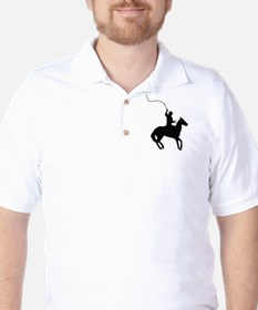 Horseman with Whip Golf Shirt