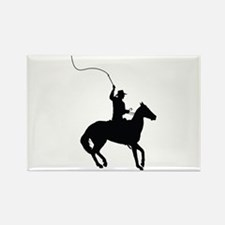 Horseman with Whip Rectangle Magnet