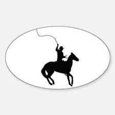 Horseman with Whip Sticker (Oval)