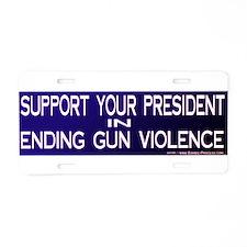 End Gun Violence Aluminum License Plate