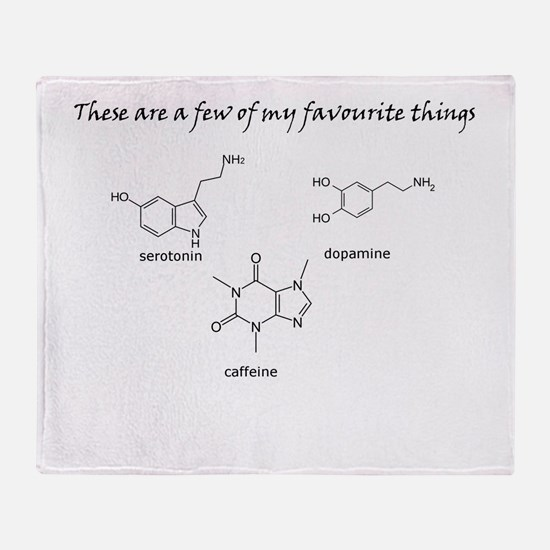 A few of my favourite substances Throw Blanket