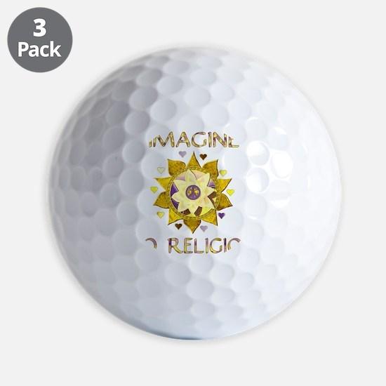 Imagine No Religion Golf Ball