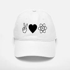 Peace Love Atheism Baseball Baseball Cap