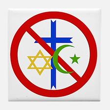 No Religion Tile Coaster