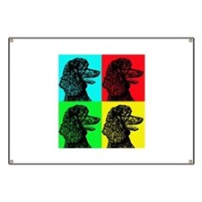Poodle Pop Art Banner