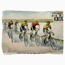 Wheelmen in a red hot finish - 1894 Pillow Sham