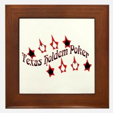 Texas Holdem Poker New Framed Tile