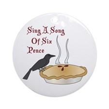 Sing A Song Of Six Pence Ornament (Round)