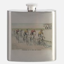 Wheelmen in a red hot finish - 1894 Flask