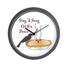 Sing A Song Of Six Pence Wall Clock