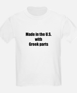 Made in the U.S. with Greek Parts Kids T-Shirt