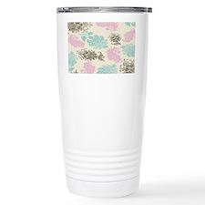 lovely pastel floral damask pat Thermos Mug