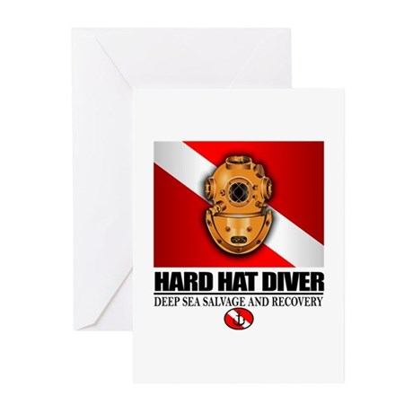Hard Hat Diver Greeting Cards (Pk of 10)