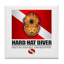 Hard Hat Diver Tile Coaster
