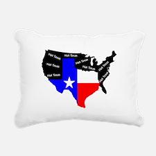 Not Texas Rectangular Canvas Pillow