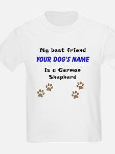 Custom German Shepherd Best Friend T-Shirt