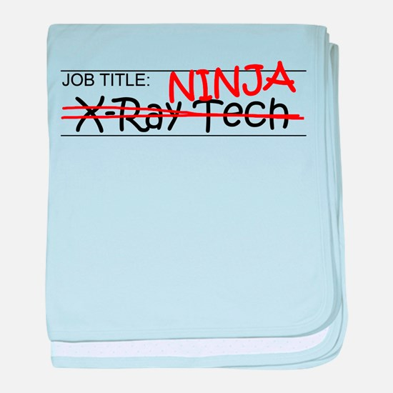 Job Ninja X-Ray Tech baby blanket