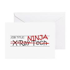 Job Ninja X-Ray Tech Greeting Cards (Pk of 10)