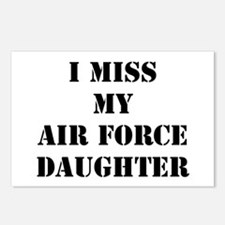 I Miss My Air Force Daughter Postcards (Package of