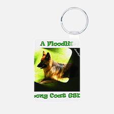 A Floodlit Long Coat GSD Keychains