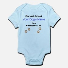 Custom Chocolate Lab Best Friend Body Suit