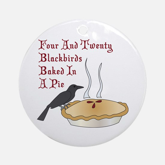 Four And Twenty Blackbirds Ornament (Round)