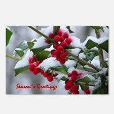 Christmas Berries  Postcards (Package of 8)