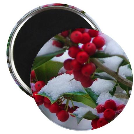 """Christmas Berries 2.25"""" Magnet (10 pack)"""