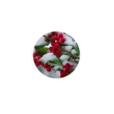 Christmas Berries Mini Button