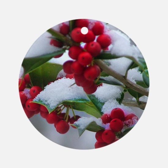 Christmas Berries  Ornament (Round)