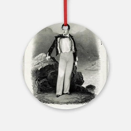 Lord Byron - 1840 Round Ornament