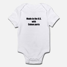 Made in the U.S. with Cuban Parts Infant Bodysuit