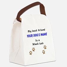 Custom Black Lab Best Friend Canvas Lunch Bag