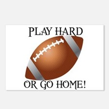 Play Hard or Go Home - Football Postcards (Package