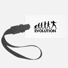Evolution of a Football Player Luggage Tag