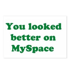 You Looked Better on MySpace Postcards (Package of