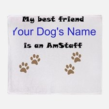 Custom AmStaff Best Friend Throw Blanket