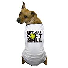 EAT, SLEEP, SOFTBALL - Black Dog T-Shirt