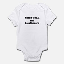 Made in the U.S. with Canadian Parts Infant Bodysu