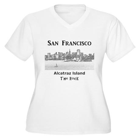 San Francisco Women's Plus Size V-Neck T-Shirt